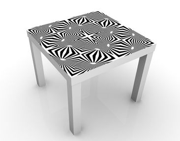 Product picture Design Table Psychedelic Black & White...