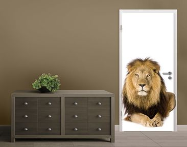 Produktfoto TürTapete König Löwe I