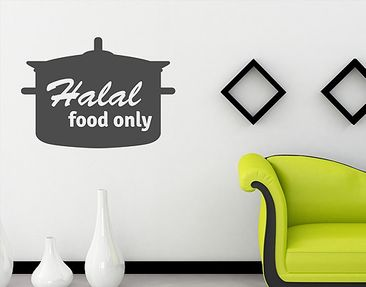 Produktfoto Wall Decal no.1433 Halal Food Only
