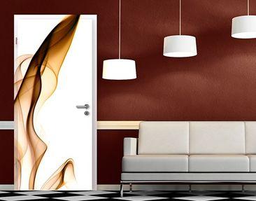 Produktfoto Selbstklebende Türtapete Golden Flame