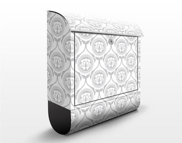 Produktfoto Briefkasten mit Zeitungsfach - Helles Marokko - Wandbriefkasten Grau