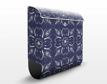 Produktfoto Briefkasten mit Zeitungsfach - Blaue Bandana - Wandbriefkasten