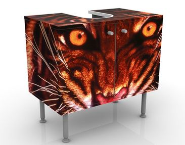 Produktfoto Waschbeckenunterschrank - Wilder Tiger - Badschrank Rot