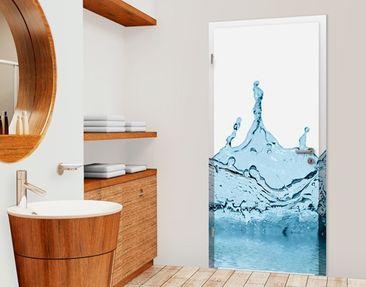 Produktfoto Selbstklebende Türtapete Blue Water Splash