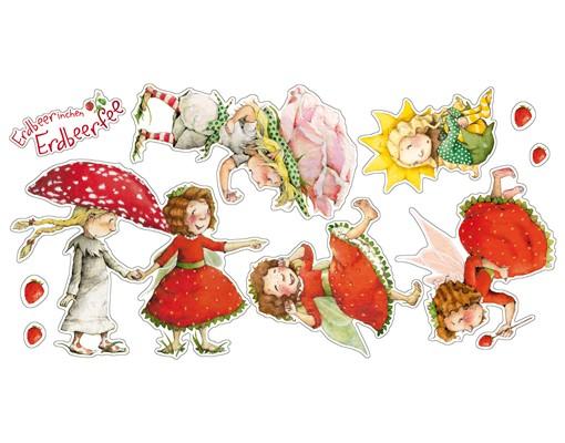 Produktfoto Wandtattoo Kinderzimmer Erdbeerinchen Erdbeerfee - Erdbeerinchen, Ida und Eleni Sticker Set
