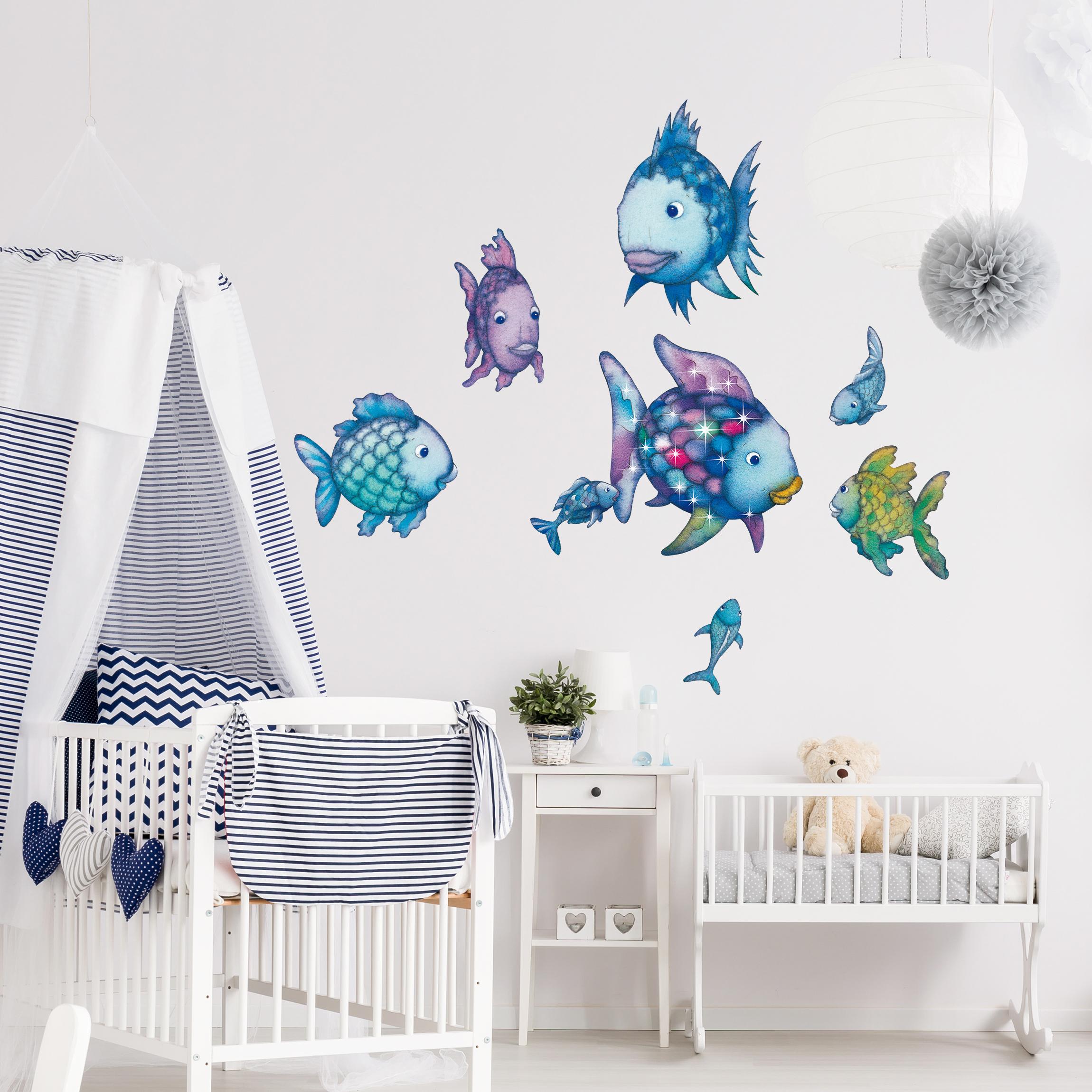 Verzauberkunst Günstige Wandtattoos Galerie Von Wandtattoo Kinderzimmer Der Regenbogenfisch - Unterwasserparadies Sticker