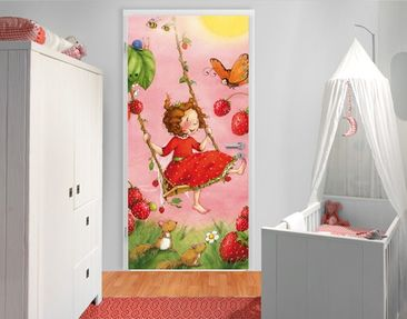 "Produktfoto Photo wall mural door no.201 ""STRAWBERRY..."