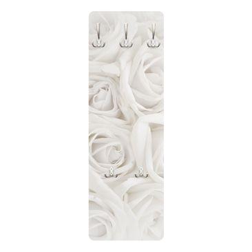 Produktfoto Rosen Garderoben - Blumenmotiv Weiße Rosen - Landhaus Weiß