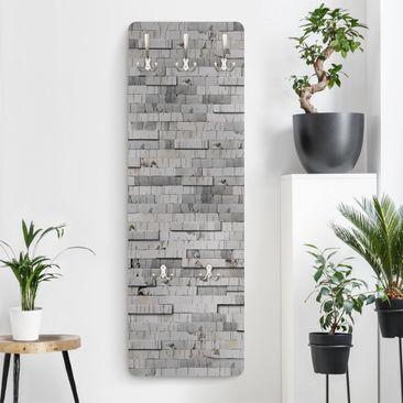 Produktfoto Garderobe in Holzoptik - Birkenrinde - Modern
