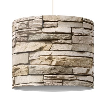 Immagine del prodotto Lampadario design Asian Stonewall - Stone wall with big bright stones