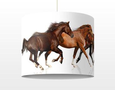 Produktfoto Kinderlampe Pferdeherde - Lampe - Lampenschirm