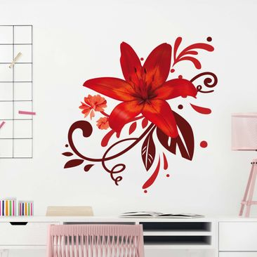 Product picture Wall Decal no.BP7 Lily Dream Red