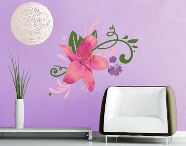 Produktfoto Wall Decal no.BP8 Lily Dream Pink