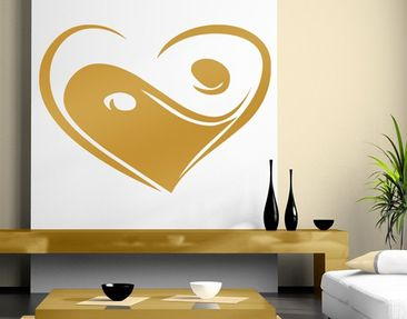 Produktfoto Wall Decal no.KP135 Yin Love Yan Gold