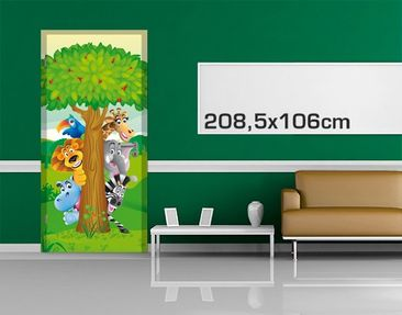 Product picture Door Photo Wall Mural no.BF1 Jungle...