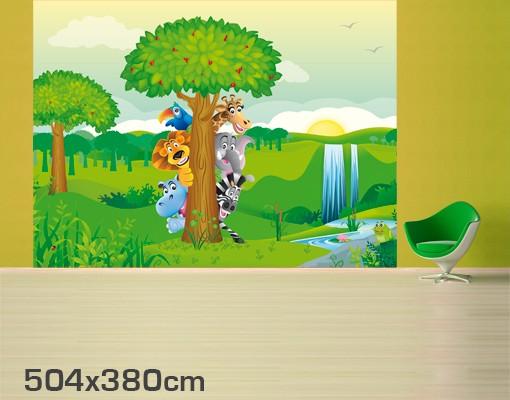 Produktfoto Selbstklebende Tapete - Fototapete No.BF1 Dschungeltiere