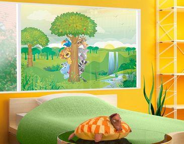 Produktfoto Fensterfolie - Sichtschutz Fenster No.BF1 Dschungeltiere - Fensterbilder