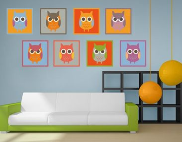 Product picture Wall Decal Owls Sticker Set