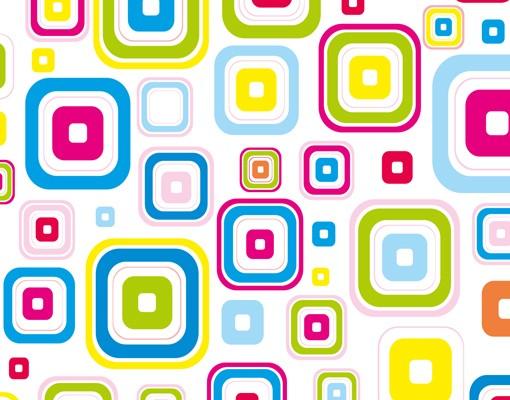 Produktfoto Wandtattoo Retro Muster Sticker Set