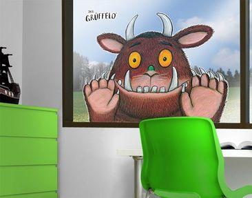 Produktfoto Der Grüffelo - Fensterfolie - Fenstersticker Grüffelo - Ist neugierig - Fensterbilder