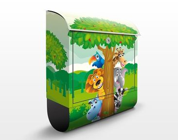 Product picture Design Letter Box no.BF1 Jungle Animals