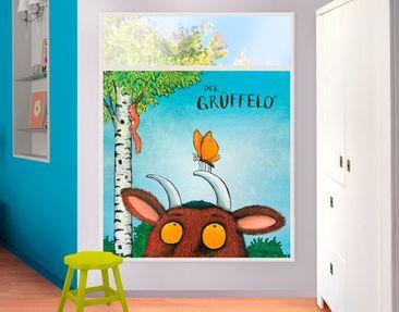 Produktfoto Fensterfolie - Sichtschutz Fenster Grüffelo - Mutiger Schmetterling - Fensterbilder
