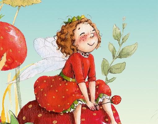 Produktfoto Kindertapete selbstklebend - Erdbeerinchen Erdbeerfee Fototapete - Zauberhaft