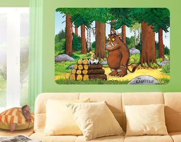 Produktfoto Der Grüffelo - Selbstklebendes Wandbild Grüffelo - Trifft die Maus