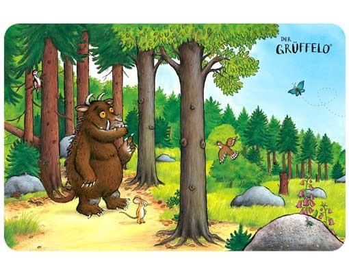 Produktfoto Der Grüffelo - Selbstklebendes Wandbild Grüffelo - Waldspaziergang