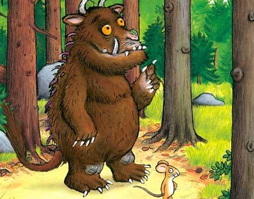 Produktfoto Der Grüffelo - Kindertapete selbstklebend - Grüffelo Waldspaziergang