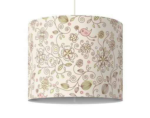 Produktfoto Pendelleuchte - Birds And Flowers - Lampe - Lampenschirm Beige Creme