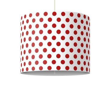 Produktfoto Pendelleuchte - No.DS92 Punktdesign Girly Weiß - Lampe - Lampenschirm Rot