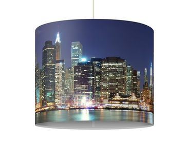 Produktfoto Pendelleuchte - Manhattan in New York City - Lampe - Lampenschirm Blau