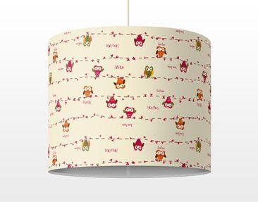 Produktfoto Pendelleuchte - Eulen - Owl Howl - Lampe - Lampenschirm Rot