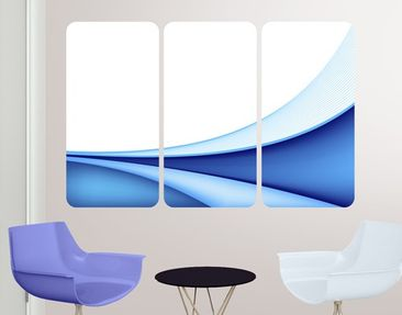 Product picture Wall Mural Blue Waving Way Triptych I