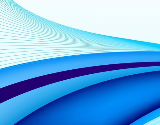 Produktfoto Selbstklebendes Wandbild Blue Waving...