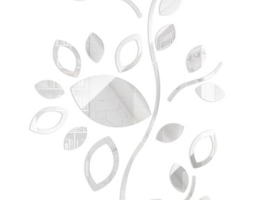 Product picture Design Wall Clock Leaves white
