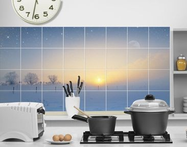 Produktfoto Tile Mural Winter Morning