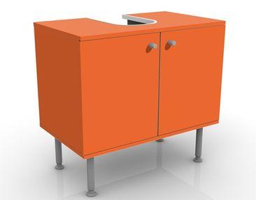 Produktfoto Waschbeckenunterschrank - Colour Orange - Badschrank Orange