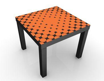 Produktfoto Beistelltisch - No.UL951 Rasterpunkte - Tisch Orange
