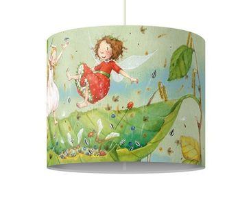 Produktfoto Pendelleuchte - Erdbeerinchen Erdbeerfee - Trampolin - Lampe - Lampenschirm Grün