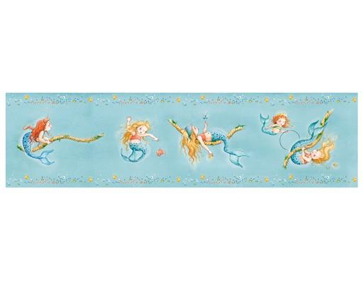 Produktfoto Matilda die kleine Meerjungfrau - Kinderlampe Seiltänzerin Matilda - Lampe - Lampenschirm Blau