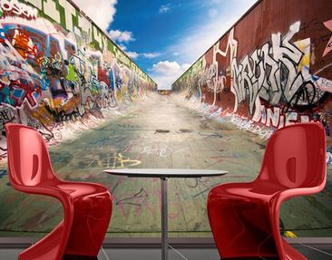 "Produktfoto Photo Wall Mural no.218 ""GRAFFITI HALF..."