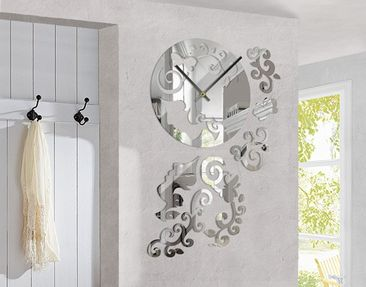 Product picture Design Wall Clock Beauty Mirror