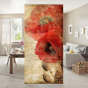 Produktfoto Raumteiler - Poppy Flower 250x120cm