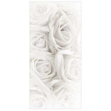 Product picture Panel Curtain White Roses 250x120cm