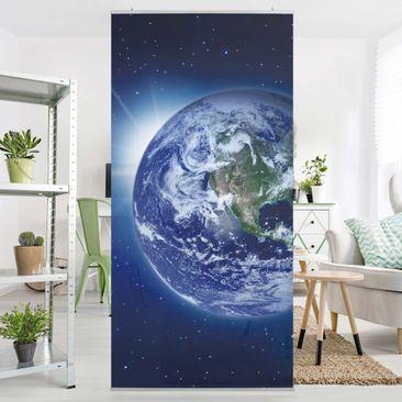 Produktfoto Raumteiler - Erde im Weltall 250x120cm