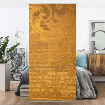 Product picture Panel Curtain Golden Baroque 250x120cm