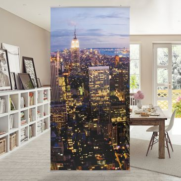 Immagine del prodotto Tenda a pannello New York skyline at night 250x120cm