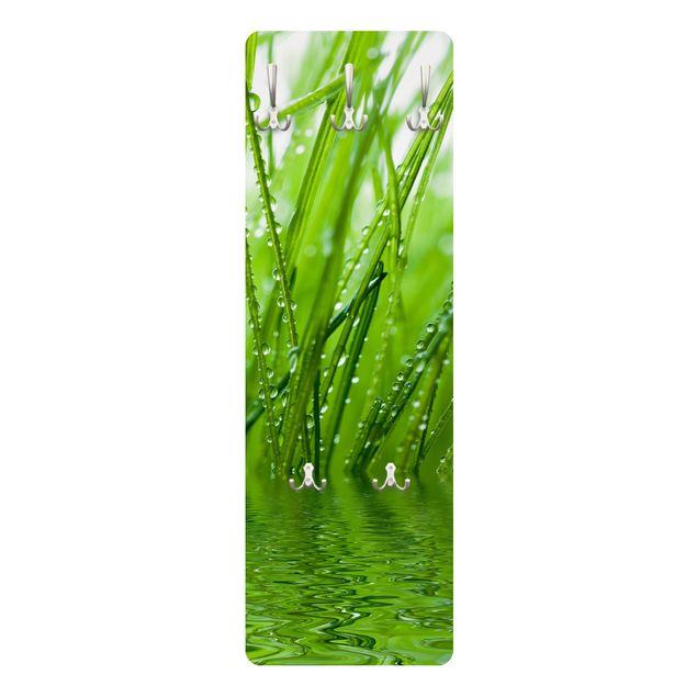 Produktfoto Garderobe Blumen - Morgentau - Grün